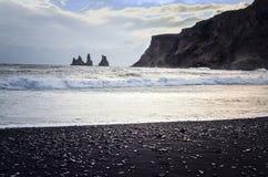 Black Beach Vik royalty free stock photography