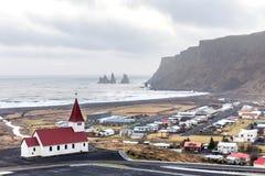 Vik ja Myrdal kościół Iceland Fotografia Royalty Free