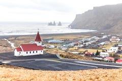 Vik ja Myrdal kościół Iceland Fotografia Stock