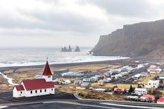 Vik ja Myrdal kościół Iceland Zdjęcia Stock
