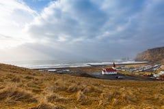 Vik kościół Iceland Obraz Stock