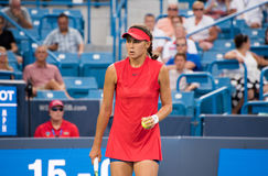 Vik 243. Mason, Ohio – August 16, 2017:  Natalia Vikhlyantseva in a second round match at the Western and Southern Open tennis tournament in Mason, Ohio, on Stock Photos