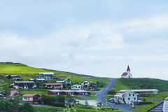 Vik, small village in Iceland. Landscape Stock Photos