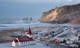 Vik Village Iceland Europe fotografia de stock royalty free