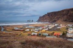Vik Village - Iceland. Icelandic village of Vik in the Southeast Iceland Stock Images