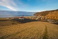 Vik Village - Iceland. Icelandic village of Vik in the Southeast Iceland Royalty Free Stock Photo
