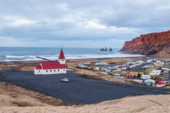 Vik Village - Iceland. Icelandic village of Vik in the Southeast Iceland Royalty Free Stock Images