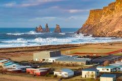 Vik Village - Island Stockbilder