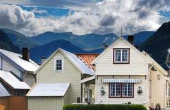 Vik - villaggio norvegian Fotografia Stock