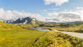 The  Vikafjellsvegen National Tourist Route, Norway Stock Images