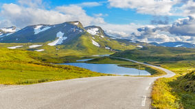 The  Vikafjellsvegen National Tourist Route, Norway Royalty Free Stock Images