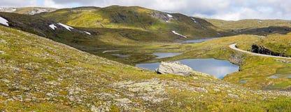 The  Vikafjellsvegen National Tourist Route, Norway Royalty Free Stock Photos