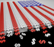 Vikande ekonomiflagga Arkivfoto