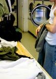 Vikande kläder för tvättinrättning royaltyfri bild