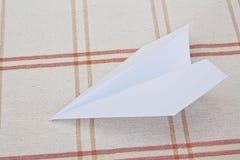vikande papper för flygplan Royaltyfri Bild