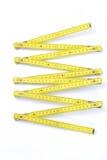 vikande yellow för mätningsstick Royaltyfri Foto