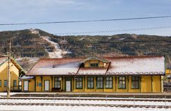Vikersund Train Station Royalty Free Stock Photo