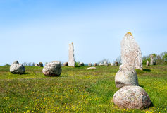 Viking age burial ground Royalty Free Stock Photo