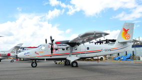 Viking Air DHC-6 Twin Otter Series 400 turboprop south pole capable aircraft on display at Singapore Airshow 2012 Royalty Free Stock Photography