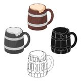 Viking ale icon in cartoon style isolated on white background. Vikings symbol stock vector illustration. Viking ale icon in cartoon design isolated on white stock illustration