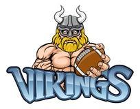 Viking American Football Sports Mascot illustration stock
