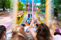 Viking amusement ride Stock Photos