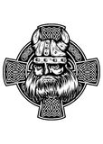 Viking And Celtic Cross Royalty Free Stock Images