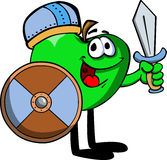 Viking apple with sword Royalty Free Stock Photo