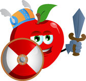 Viking apple with sword Stock Image