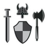 Viking armor set Royalty Free Stock Image