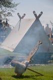 Viking ławka przy festiwalem Obrazy Stock