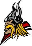 Viking / Barbarian Mascot Logo. Vector Image of Viking / Barbarian Mascot Logo Royalty Free Stock Photos