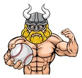 Viking Baseball Sports Mascot illustrazione di stock