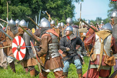 Viking battle Stock Photo