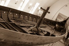 Viking battle ship in Oslo, Norway stock photo