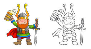 Viking with a beer in hand Royalty Free Stock Photos