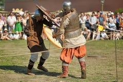 Viking bitwa Zdjęcia Royalty Free