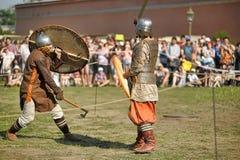 Viking bitwa Zdjęcia Stock