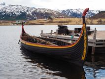 Viking Boat Royaltyfri Foto