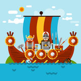 Viking Boat Background Royalty Free Stock Images
