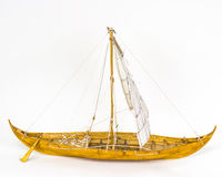 Viking boat model Royalty Free Stock Photo