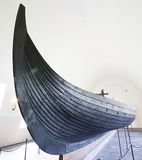 Viking boat. Picture of an old Viking boat in Oslo museum Stock Images
