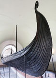 Viking boat. Picture of an old Viking boat in Oslo museum Stock Image