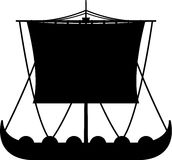 Viking Boat in Silhouette Stock Images
