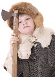 Viking boy Stock Photo