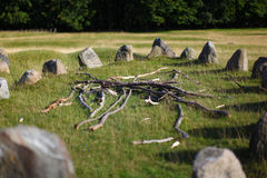 Viking burial ground in Denmark Royalty Free Stock Photo