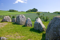 Viking burial site Stock Images
