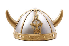 Viking Cap. Toy viking cap isolated stock photo
