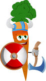 Viking carrot with axe Royalty Free Stock Photo