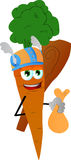 Viking carrot with a club and sack Royalty Free Stock Photo